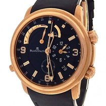 Blancpain LÉMAN RÉVEIL GMT RED GOLD AND BLACK DIAL