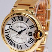 Cartier Ballon Bleu 18k Yellow Gold Automatic Watch Box/Papers...