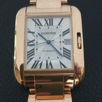 Cartier Tank Anglaise 18k pink Rose,model Extra Large
