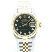 Rolex Lady Datejust 26mm Two Tone Black Factory Diamond Dial