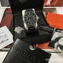 Fortis Swis watch automatic Fortis Flieger GMT black dial +...