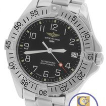 Breitling Colt Automatic Black 38mm Stainless Steel A17035...