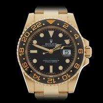 Rolex GMT-Master II 18k Yellow Gold Gents 116718LN - W4241