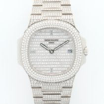 Patek Philippe Nautilus White Gold Full Diamond Ref. 5719/1G