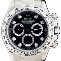 Rolex Cosmograph Daytona 116509 Black Diamond Tachymetre White...