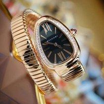 Bulgari BVLGARI Serpenti Tubogas Opaline Pink Gold Diamonds Watch