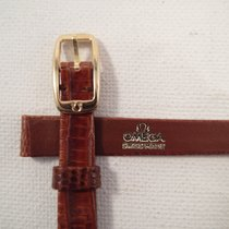 Omega 10mm brown LIZARD Omega strap 8mm gold plated Omega buckle