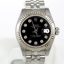 Rolex Datejust Black Diamond Dial Jubilee Steel & 18k...