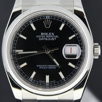 Rolex Datejust 36MM Steel Black Index Dial, Full Set  From 2009