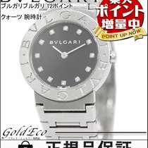 Bulgari 【ブルガリ】ブルガリブルガリ 12ポイント ダイヤ QZ 腕時計 ステンレス ブラック文字盤 BB26SS...