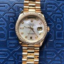 Rolex  Day-Date  Ref/18038  Pearl Dial Diamond Bezel & Index