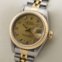 Rolex Lady Datejust Edelstahl 18K Gold Gelbgold Diamant Damenuhr