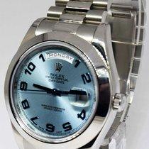Rolex Day Date II Platinum Glacier Blue Dial Mens Watch...