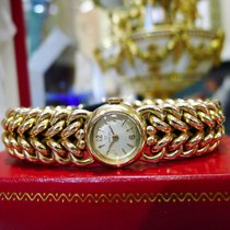 Omega 14k Rose Gold Double Woven Watch 54.9 Grams
