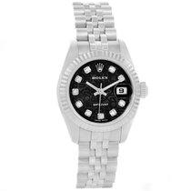 Rolex Datejust Steel White Gold Jubilee Diamond Dial Ladies...
