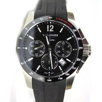 Longines Conquest - Chronograph Automatic 41mm Rubber Strap...