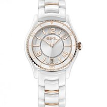 Ebel X-1 White Ceramic and Rose Gold Case and Bracelet, Date