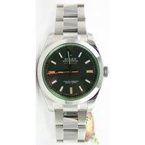Rolex MILGAUSS 116400 GREEN CRYSTAL ANNIVERSARY EDITION