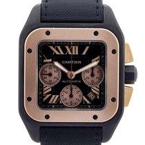 Cartier Santos 100 Cronografo Extra Large In Titanio E Oro...