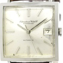 IWC Vintage Iwc Schaffhausen Square Steel Leather Automatic...