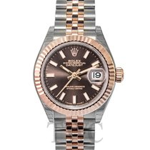 Rolex Lady Datejust 28 Chocolate 18k Everose gold/Steel 28mm -...