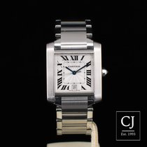 Cartier Tank Française Large Stainless Steel