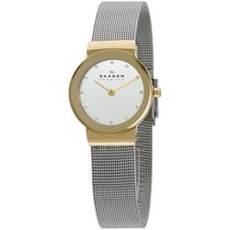 Skagen Freja Silver Dial Stainless Steel Case Ladies Watch...