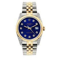 Rolex Date Unisex 34mm Blue Dial Gold And Stainless Steel...
