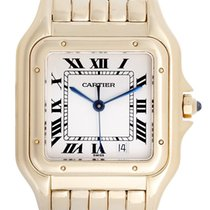 Cartier Panther 18k Yellow Gold Ladies Quartz Midsize Watch...