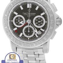 Carl F. Bucherer Patravi Chronograph GMT Black 40mm Watch...