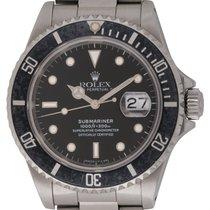 Rolex : Submariner Date :  16610 :  Stainless Steel : black...