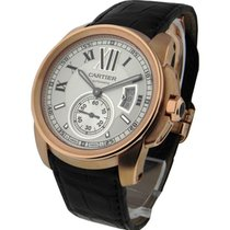 Cartier W7100009 Calibre De Cartier in Rose Gold - On Brown...