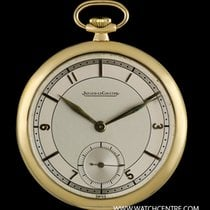 Jaeger-LeCoultre 18k Yellow Gold Silver Dial Pocket Watch