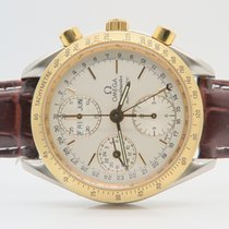 Omega Speedmaster Triple Date 18k Gold Steel