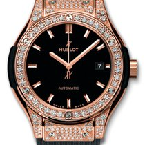 Hublot Classic Fusion 33mm King Gold Diamond Pave Automatic Watch