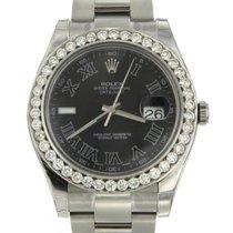 Rolex Datejust Ii Men's Black Dial Stainless Steel Bracelet
