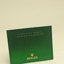 Rolex Guarantee Manual Worldwide Service Booklet