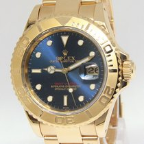 Rolex Yacht-Master 16628 18k Yellow Gold Blue Dial Automatic...