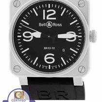 Bell & Ross BR 03-92 Steel 42mm Black Stainless Rubber...