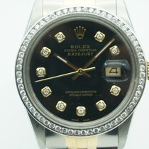 Rolex Datejust 36mm Two Tone Black Diamonds Dial &...