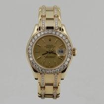 Rolex PEARLMASTER YELLOW GOLD FULL ORiJiNAL DiAMOND