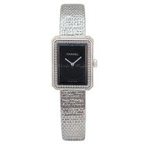 Chanel Boy∙Friend Tweed Small Version, Steel Set With Diamonds