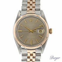 Rolex Datejust Rose Gold/Steel Bronze Pie Pan Dial