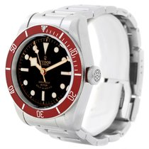 Tudor Heritage Black Bay Burgundy Bezel Steel Watch 79220 Box...