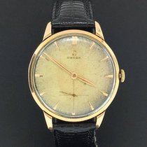 Omega Vintage Oversized 37mm 18k Rose Gold Custom Strap Ref. 2687
