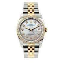 Rolex Datejust Men's 36mm White Mother Of Pearl Dial...