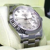 Rolex Datejust II 116334 41mm Diamond Dial 18k White Gold...