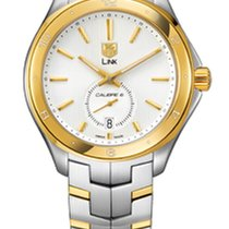 TAG Heuer Link Calibre 6 Automatic Silver Dial with Gold Details