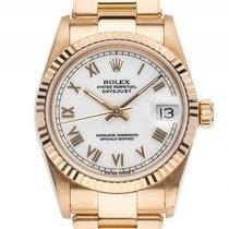 Rolex Datejust Medium 18kt Gelbgold Automatik Armband Oyster...