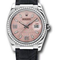 Rolex 116189 Perpetual Datejust 18K White Gold & Diamonds